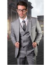 Gray One Button Suit