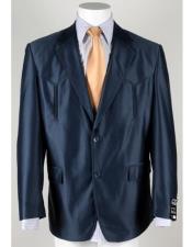 Western Blazer Navy Blue