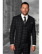 Two Button Black Checked