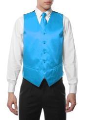 4PC Hankie Turquoise Big