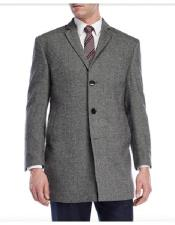 Wool Three Button Gray