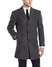 Three Button Wool Gray