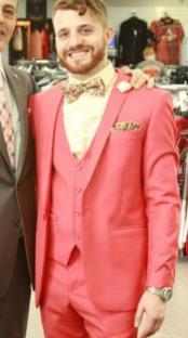 ID#SP26677 Mens Pink  Shawl Lapel Suit