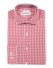 Spread Collar Slim Gingham