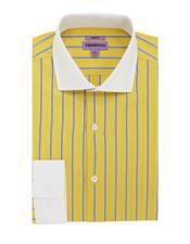 Fit Dress Cotton Yellow