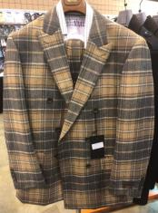 Notch Plaid Lapel Single