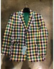 Plaid Window Pane Blazer