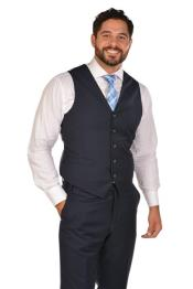 Dress Mens Navy Vest