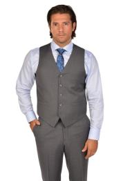 Wool Fabric Grey Vest