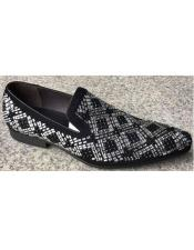 Black Shoe Crystal Geometric