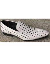 Silver Studs Loafer Style