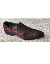 Burgundy Slip On Loafer