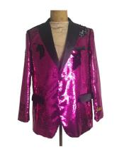 ID#AI26951 Mens One Button Affordable Cheap Priced Unique Fancy For Men Available Big Sizes on sale Hot Pink Suit