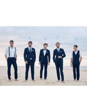 Beach Wedding Attire Navy
