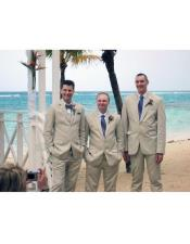 Beige Beach Attire Wedding