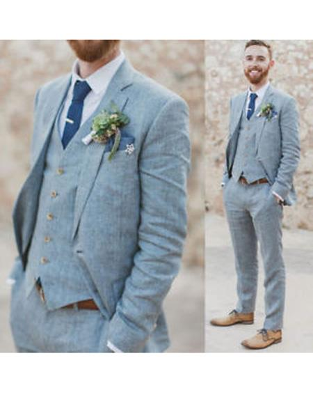 Attire Menswear Grey Beach