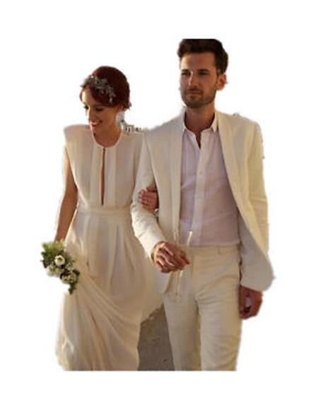 Ivory Beach Wedding Attire