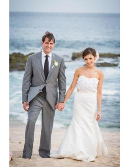 Beach Wedding Grey