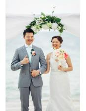 Beach Grey Wedding Menswear