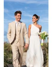 Beige Beach Wedding Attire