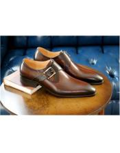 ID#AI26995 Mens Carrucci Shoe Chestnut Wrapped Goldtone Slip On
