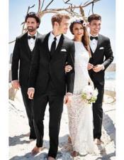 men's Black Beach Wedding Attire Menswear Suit
