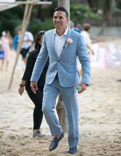 Beach Blue Wedding Attire