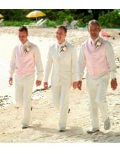 Beach Wedding Beige Attire
