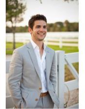 men's Beach Gray Wedding Attire Menswear Suit