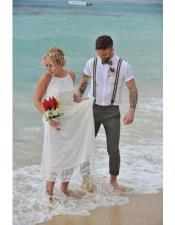 Beach Gray Wedding Attire