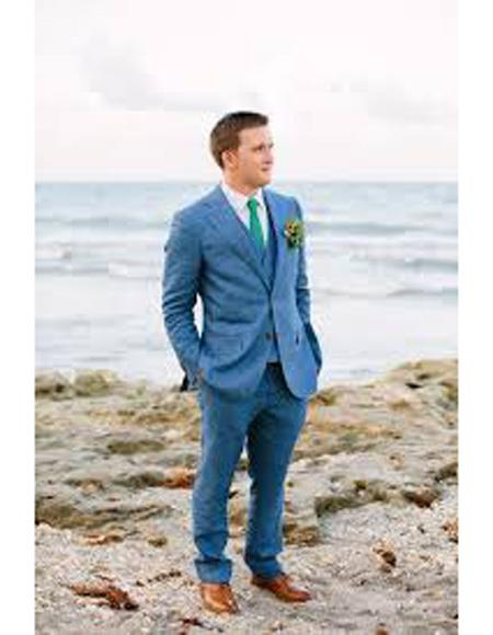 Beach Blue Wedding Menswear