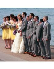 Gray Beach Wedding