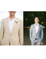 Wedding Beach Beige/Gray Attire