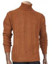Turtleneck Rust Wool Blend