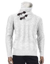 Long Sleeve Shawl White