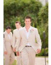Beach Wedding Menswear Beige