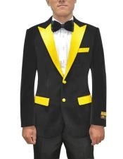 Button Black Mens Blazer