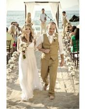 Menswear Beige Beach Wedding