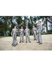 Beach Wedding Menswear Gray