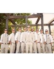 Beach Wedding Menswear Ivory