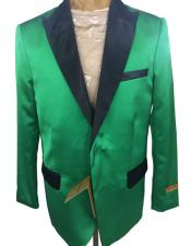 ID#AI27217 Mens Cuff Link Green  Tuxedo Dinner Jacket Two Button Blazer