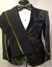 Green Shawl Lapel