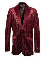 Fancy Pattern Burgundy And