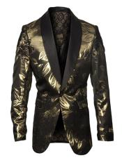ID#SU27355 Mens Fancy Affordable Cheap Priced Unique Fancy For Men Available Big Sizes on sale Pattern Gold Blazer