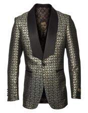Shawl Lapel Gold Fancy