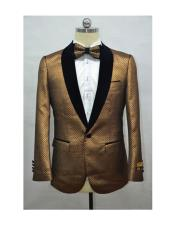 Orange mens Fashion Blazer