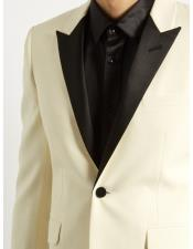 Ivory Button Closure Blazer