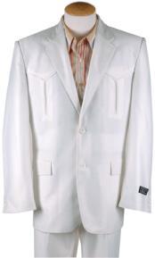 Western Cowboy Suit White