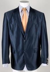 ID#SU27584 Mens Navy Traje Vaquero Polyester Suit Western Cowboy Suit