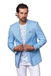 men's Linen For Affordable Cheap Priced Unique Fancy For Men Available Big Sizes on sale Beach Wedding outfit Notch Label Sky Blazer